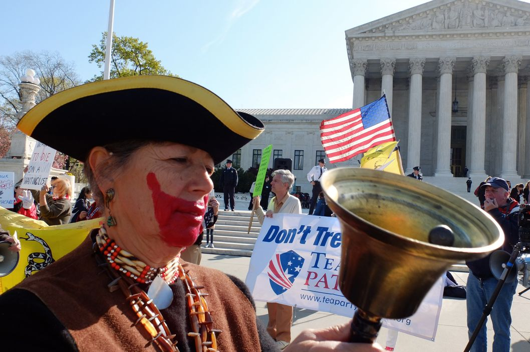 Why, no, ma'am -- we don't mean to impugn the seriousness of your Founding-Fathers-Wearing-Joker-Makeup Ensemble.
