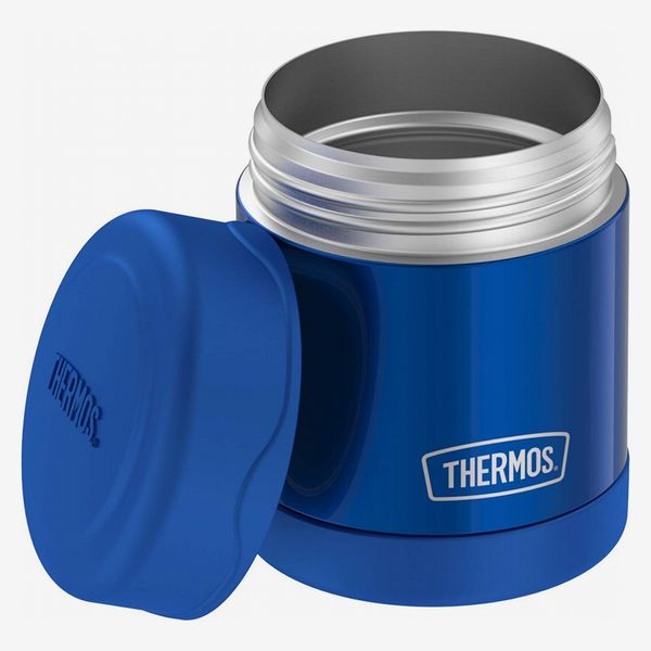 A Thermos food jar in cobalt blue. The Strategist - There's a Bunch of Thermoses on Sale at Amazon