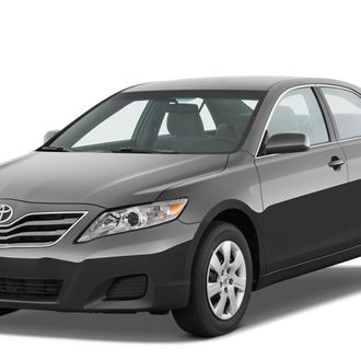 Front three quarter view of a 2010 Toyota Camry LE