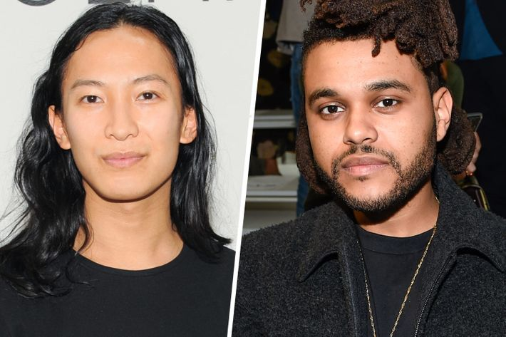 Alexander Wang; the Weeknd.