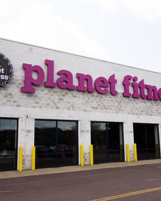 A Planet Fitness.