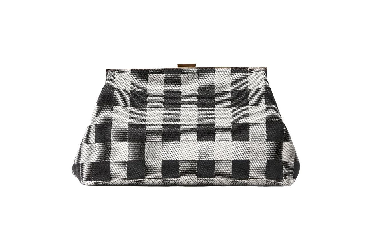 Mansur Gavriel Checker Volume Clutch
