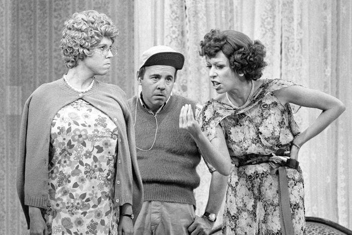 Vicki Lawrence, Tim Conway, and Carol Burnett in The Carol Burnett Show.