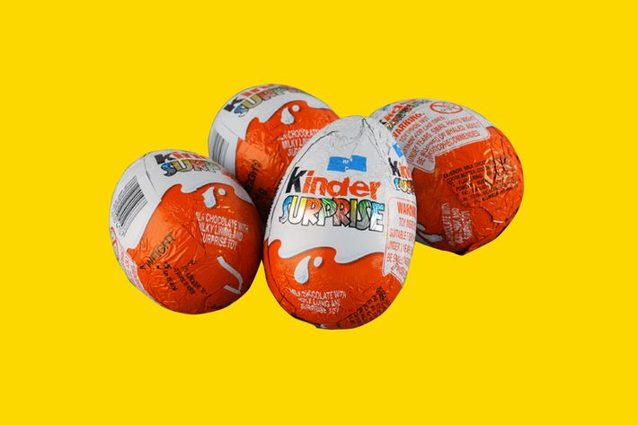 For the past several weeks I have been captivated by videos of adults  opening Kinder eggs.