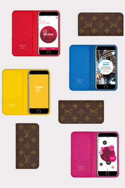 Apps and monogrammed cases from Louis Vuitton.