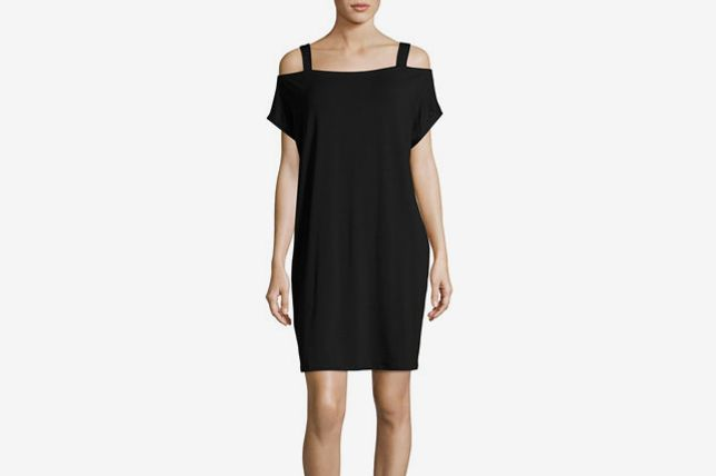 Eileen Fisher Cold-Shoulder Jersey Shift Dress