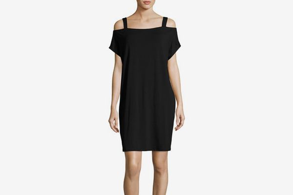 Eileen Fisher Cold-Shoulder Jersey Shift Dress