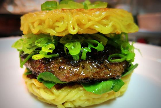 Behold, the ramen burger.