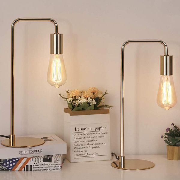 HAITRAL Industrial Table Lamps Set of 2