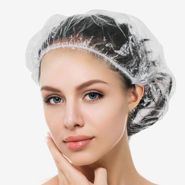 Auban Disposable Shower Cap, 100 Pack