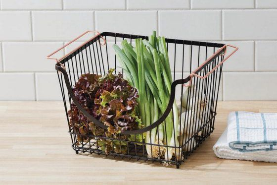 Better Homes & Gardens Large Stacking Wire Basket, Bronze — 3 Pack