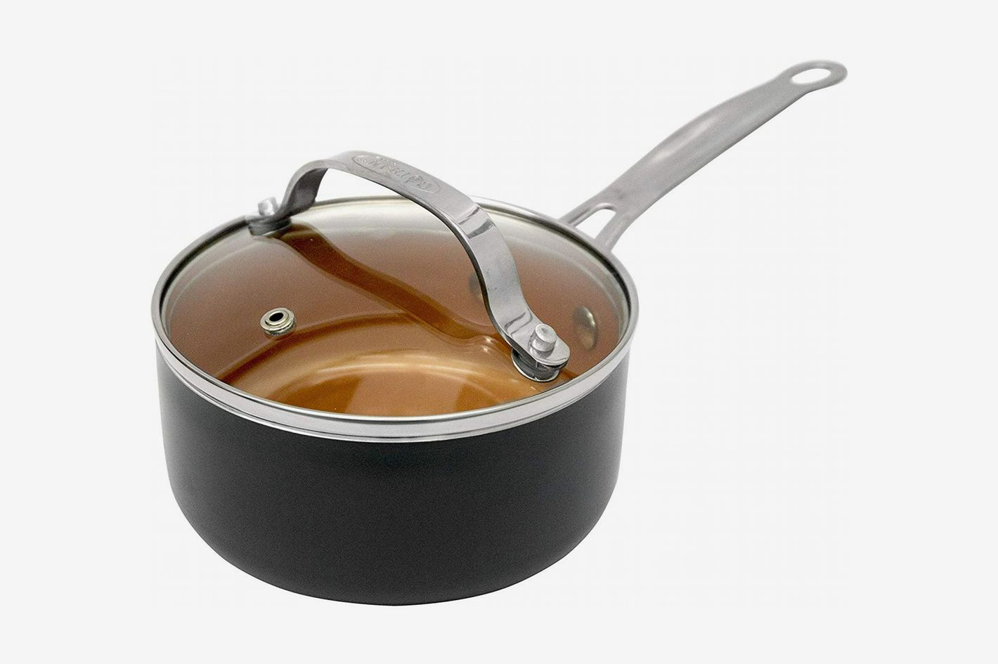 Gotham Steel Sauce Pan With Lid, Copper, 1qt