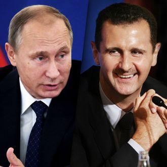 Vladimir Putin and Bashar al-Assad