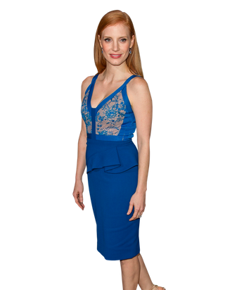 HOLLYWOOD, CA - DECEMBER 10: Actress Jessica Chastain arrives at the premiere of Columbia Pictures'
