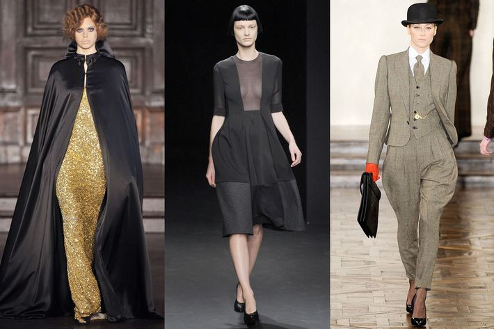 Looks by L'Wren Scott, Calvin Klein, and Ralph Lauren.