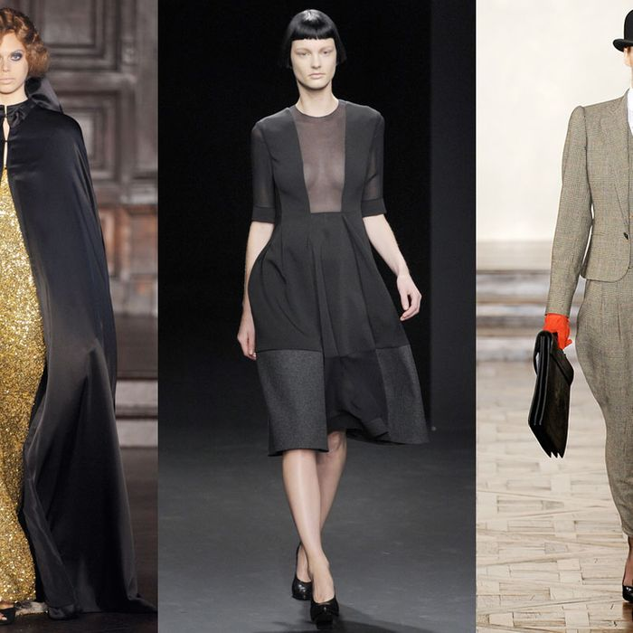 Looks by L'Wren Scott, Calvin Klein, and Ralph Lauren.