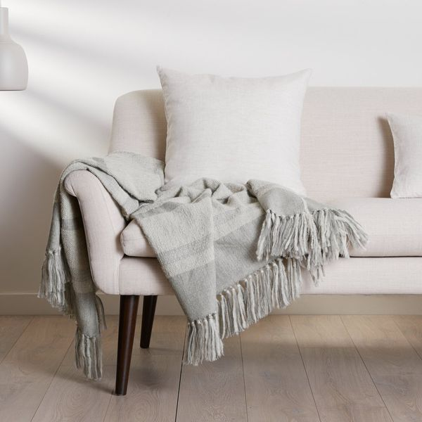 Parachute Banded Alpaca Throw