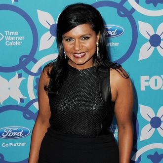 Actress Mindy Kaling arrives at the Fox Fall Eco-Casino Party at The Bungalow on September 9, 2013 in Santa Monica, California.