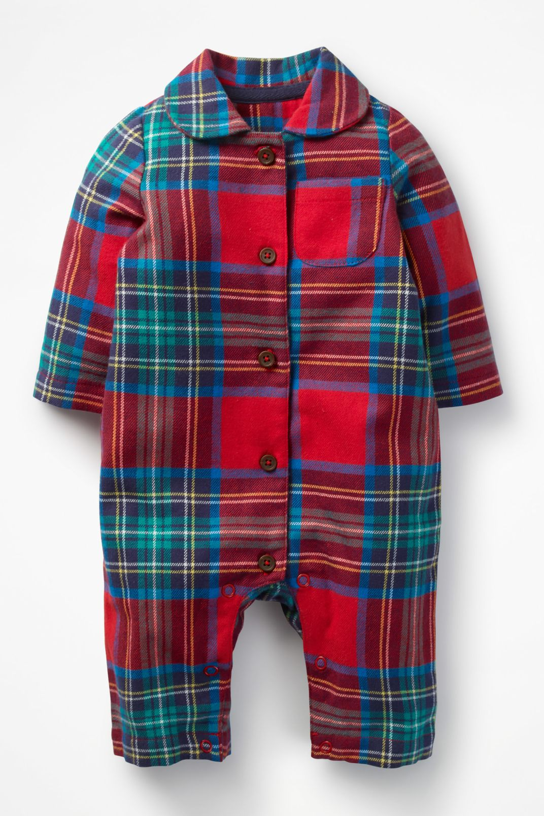 Baby Boden Checked Flannel All-In-One