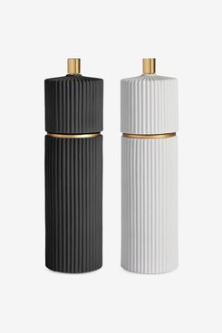 L'Objet Ionic Set of Two Porcelain Mills