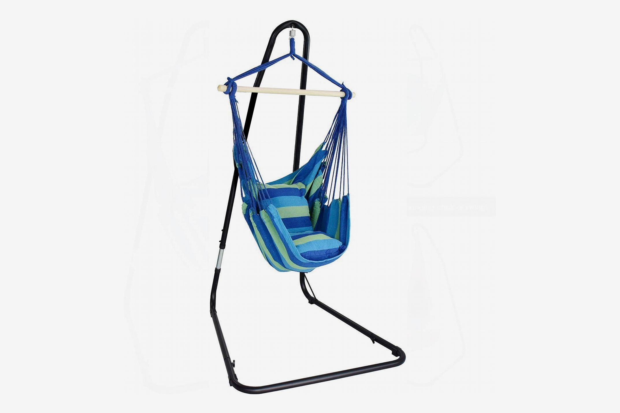 Sorbus Hanging Rope Hammock Chair Swing Seat with Adjustable Stand