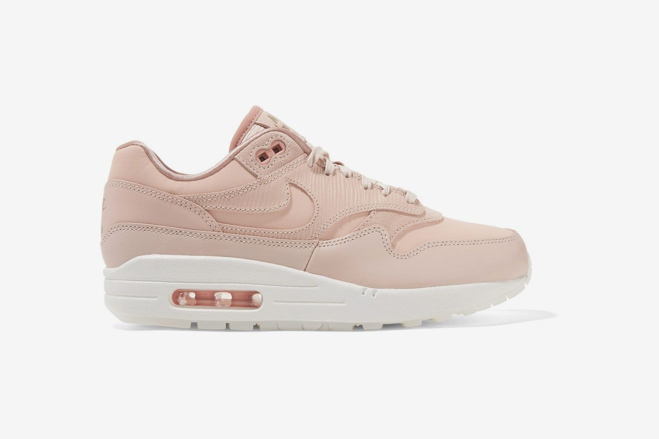 Nike Air Max Suede Trimmed Leather Sneakers