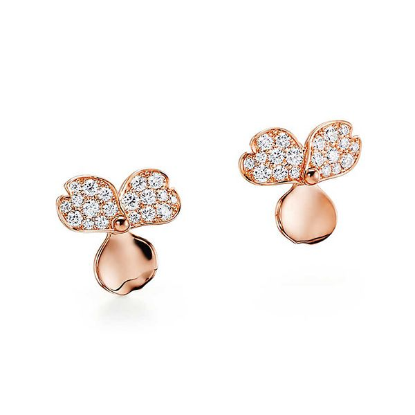 Tiffany Paper Flowers™ Diamond Flower Earrings