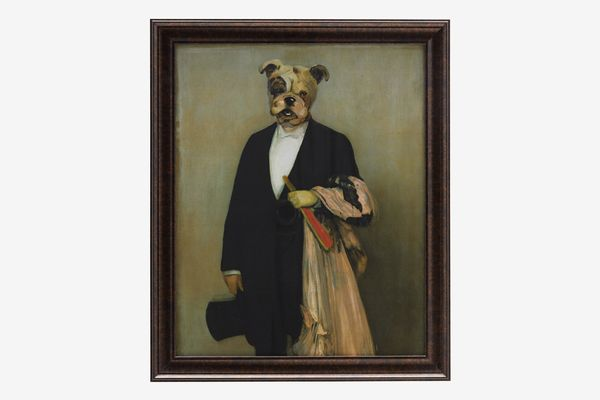 "Human Dog with Dark Bronze 24""x29"" Frame by Drew Barrymore Flower Home"
