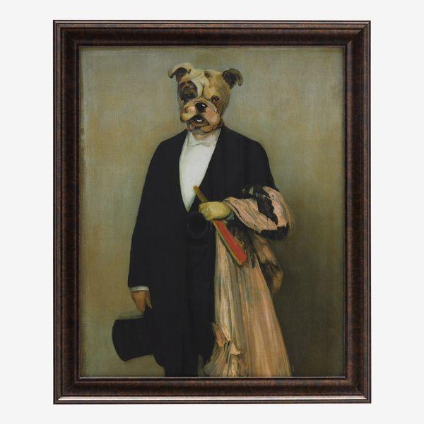 "Human Dog with Dark Bronze 24""x29"" Frame by Drew Barrymore Flower Home"