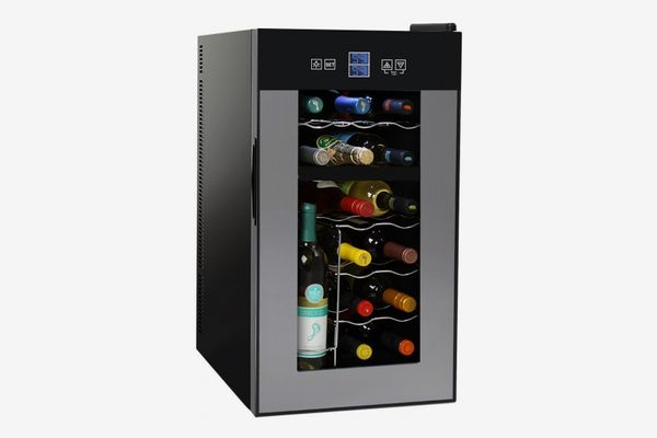 NutriChef 18 Bottle Dual Zone Thermoelectric Wine Cooler