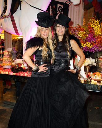 Pamela Skaist-Levy and Gela Nash-Taylor at Juicy Couture's Fifth Avenue flagship opening in 2008.