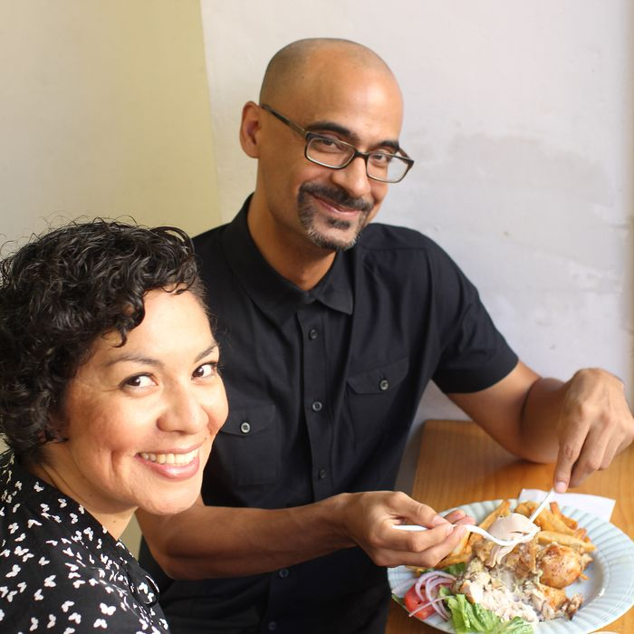 Díaz, right, with Aurora Anaya-Cerda of La Casa Azul bookstore.