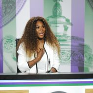 LONDON, ENGLAND - JUNE 23:  Serena Williams of USA talks to the media during previews for Wimbledon Championships at Wimbledon on June 23, 2013 in London, England.  (Photo by John Buckle - Pool/Getty Images)