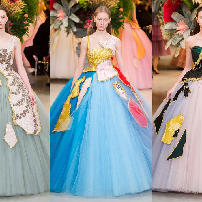 Viktor Rolf Turned Old Worn Gowns Into Couture Collages