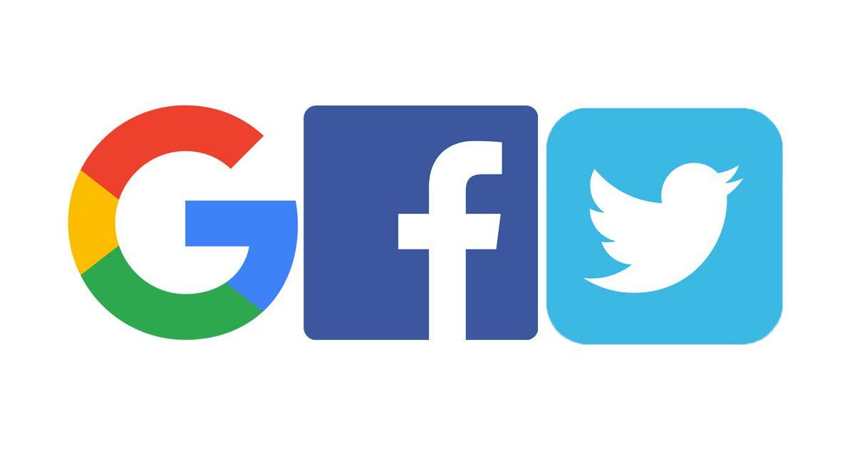 Image result for Facebook, Twitter, Google, pictures
