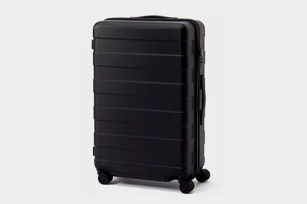 Adjustable Handle Hard Carry Suitcase 62L Black