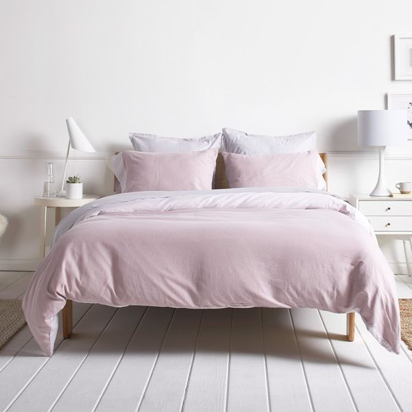 Parachute Rose-Washed Sateen Duvet Cover