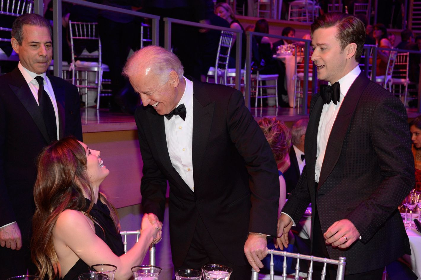 Jessica Biel, Vice President of The United States Joe Biden and Justin Timberlake attend TIME 100 Gala, TIME'S 100 Most Influential People In The World at Jazz at Lincoln Center on April 23, 2013 in New York City.