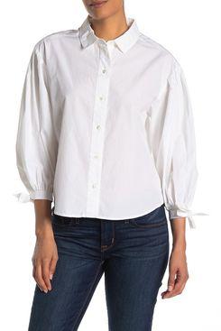 Frame Denim Tie Cuff Shirt