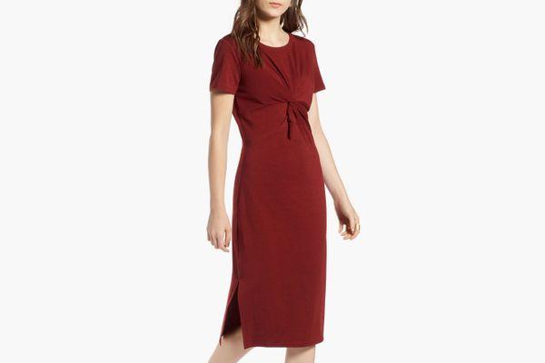 Treasure & Bond Twist Front Midi Dress