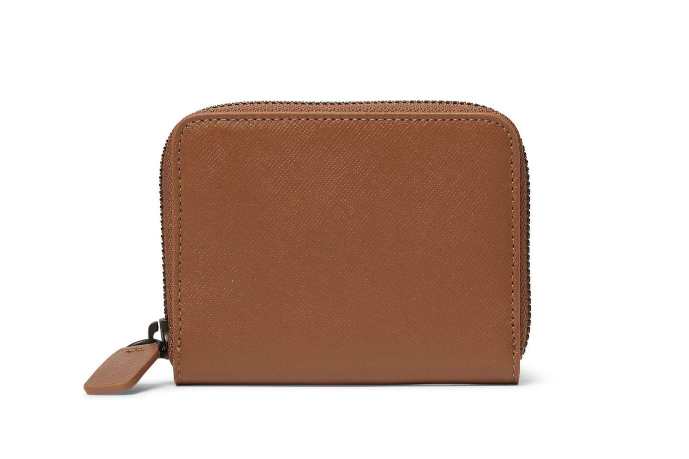 Common Projects Zip-Around Cross-Grain Leather Wallet