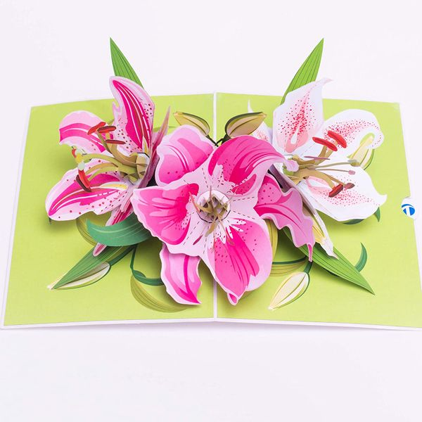 Truance Pop-Up Lily Flower Card