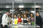 Food Network's Ingrid Hoffman with some of the students.
