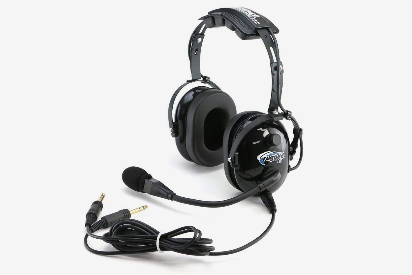 08a9ea5ecb1 Rugged Air RA200 General Aviation Pilot Headset With GA Dual Plugs and MP3  Music Input