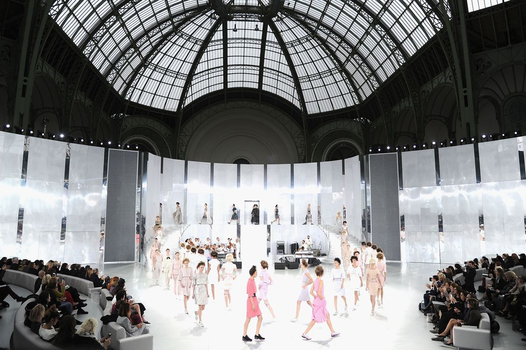 A general view of the Chanel show as part of Paris Fashion Week Haute-Couture Spring/Summer 2014 on January 21, 2014 in Paris, France.