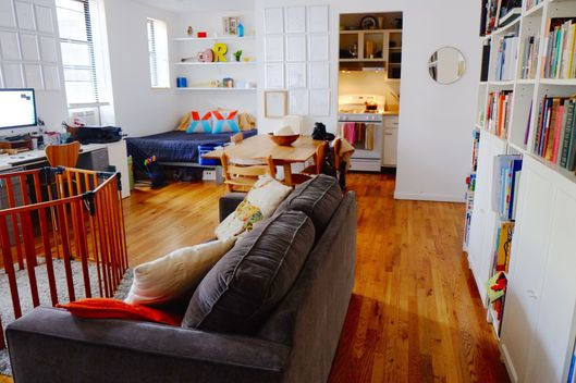 4 people 650 square feet a love story the cut - Baby in one bedroom apartment ...