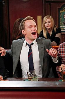 """46 Minutes""-- The gang, Robin, (Cobie Smulders), Barney (Neil Patrick Harris), Marshall (Jason Segel) and Ted (Josh Radnor), still holding court in their usual booth at Maclaren's on the 150th episode of HOW I MET YOUR MOTHER, Monday, Jan. 16 on CBS."