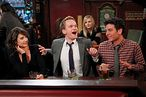 """46 Minutes""-- The gang, Robin, (Cobie Smulders), Barney (Neil Patrick Harris), Marshall (Jason Segel) and Ted (josh Radnor), still holding court in their usual booth at Maclaren\'s on the 150th episode of HOW I MET YOUR MOTHER, Monday, Jan. 16 (8:00-8:30 PM, ET/PT) on the CBS Television Network.  Photo: Monty Brinton/CBS √?¬©2011 CBS Broadcasting Inc. All Rights Reserved."