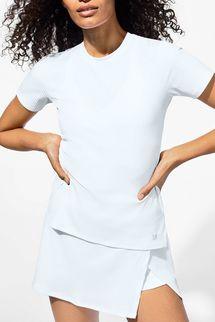 EleVen by Venus Williams Love To Love Rib Tee In White
