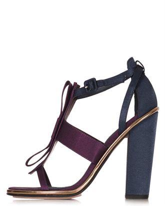 BetTopshop Satin Raspberry Best Bow Sandals 76gyvbYf